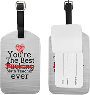 You're The Best Fucking Math Teacher Ever PU Leather Luggage Tag