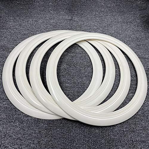 Mrwzq Vespa - Pegatinas de goma para llantas de neumáticos (30,5 cm), color blanco