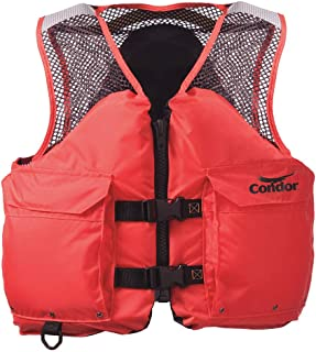 Condor Commercial Life Jacket, USCG Type III, Foam Flotation Material, Size: S S Nylon Orange 45MP90-1 Each
