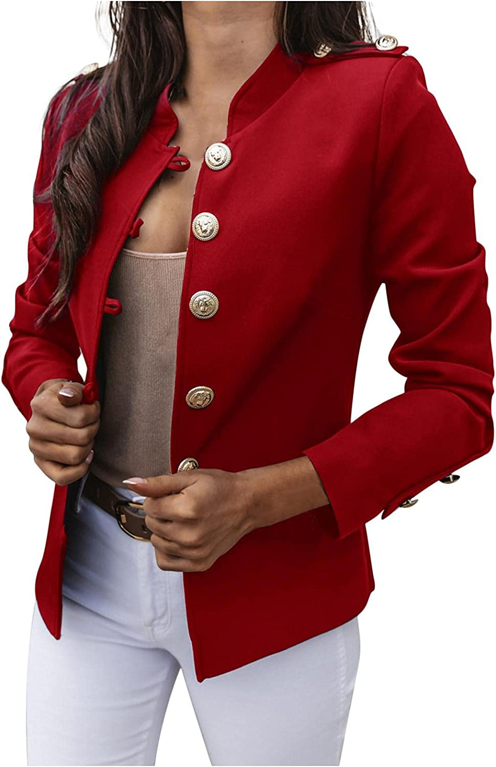 Women's Coat Buttons Down Round Neck Pullover Lace Stitching Long-Sleeved Fashion Tang Suit Improvement Sweater