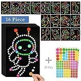 IDEALEBEN Lehrreiches Klebepunkt Bastelset Paper Poetry Sticker Kreise für kleine Künstler(39 Stück)