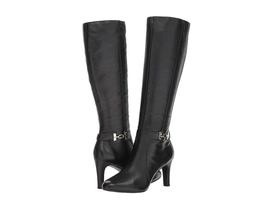 Bandolino Lamari Boot (Black Leather) High Heels