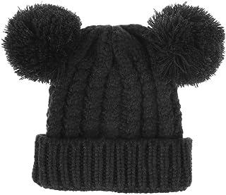 قبعة شتوية للأطفال من Luyee قبعة سميكة ودافئة مع أذنين بوم بوم محبوكة قبعة للطقس البارد للأولاد والبنات، العمر 3-7