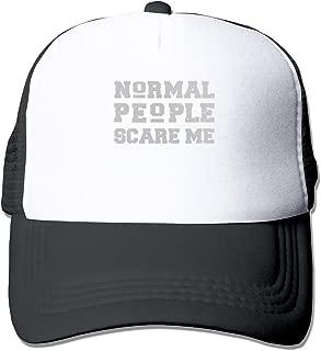 Normal People Scare Me 2 Mesh Baseball Caps Unisex Style Hat Black