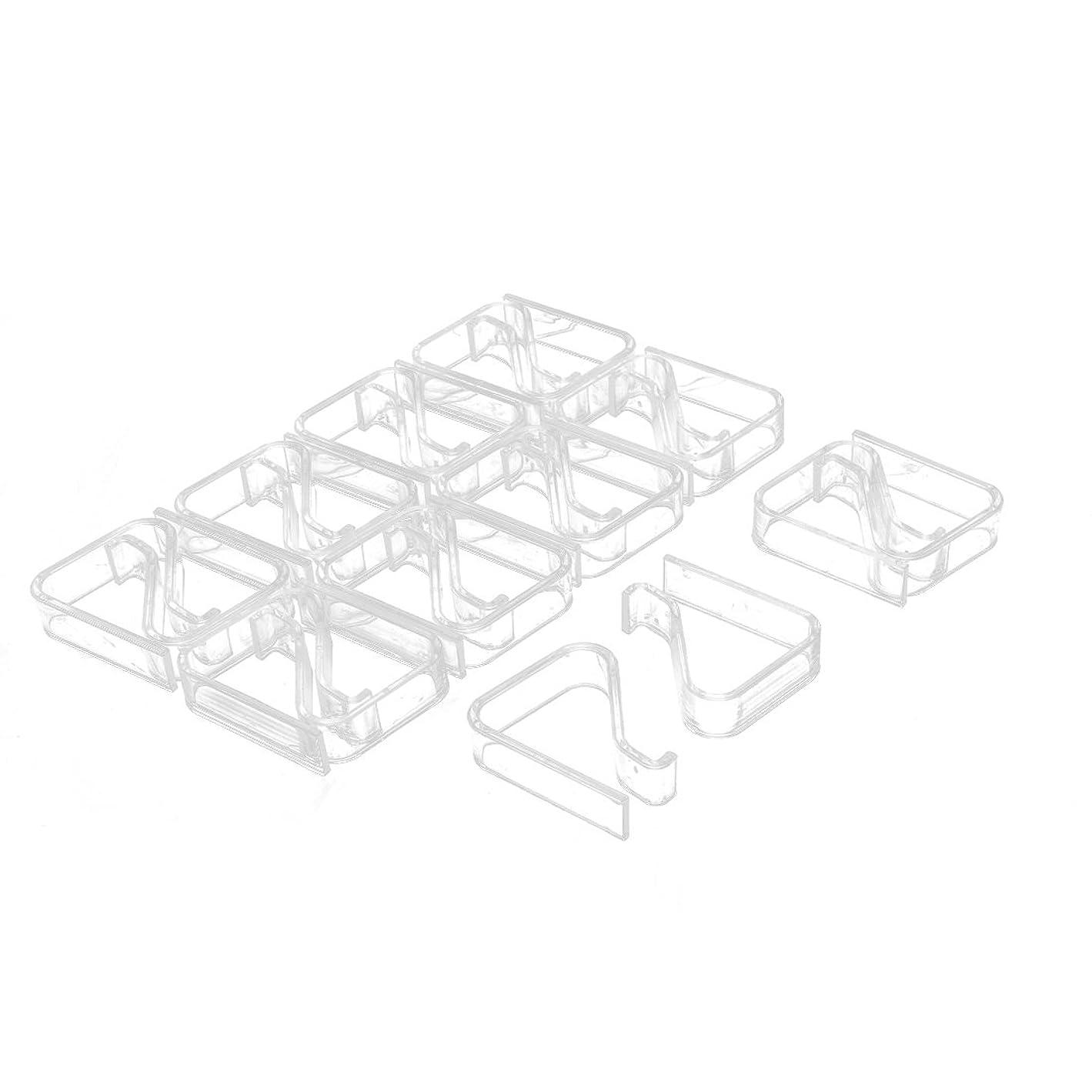 立ち寄るダブル量uxcell テーブルクロスクリップ テーブルクロス止め クリップ クランプ ホルダー プラスチック製 2-3.5cm 20個入り