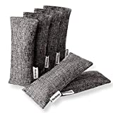 Marsheepy 6 Pack Natural Bamboo Charcoal Purifying Bags, Shoe Deodorizer and Odor Remover, Shoe Odor Eliminator, Glove Deodorizers for Boxing (60g X 6 PACK)