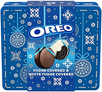 OREO Fudge and White Fudge Covered Chocolate Sandwich Cookies
