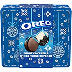 This package contains one 16.4 oz holiday gift Tin filled with 24 Oreo Fudge and white fudge Covered chocolate Sandwich Cookies (12 of each) Make their holiday season even more special with these fudge and white fudge Covered Oreo cookies, which come...