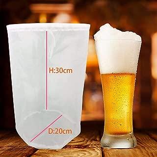 Bolsas de filtro de cerveza reutilizables, malla de filtro de vino de elaboración de la cerveza, cordón de leche de jugo Bolsa de filtro de malla fina, filtro de cerveza Kit de filtro de cerveza