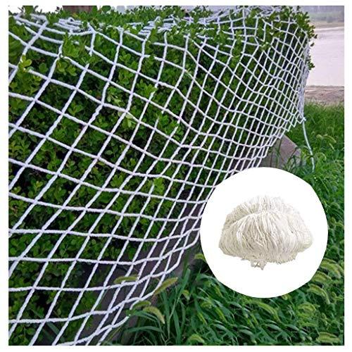 DLYDSSZZ Gartenzaun Dekor Seilnetz Kinder Absturzsicherung Schutznetz for Trampolin Balkon Treppengeländer Fenster Haustier Isolationsanlage Klettern Weiß (Color : Mesh 10cm, Size : 2 * 10m)