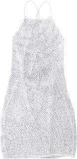 ZAFUL Women's High Cut Bandeau Bikini Set Strapless Solid Color 2 Pieces Bathing Suit Swimsuit