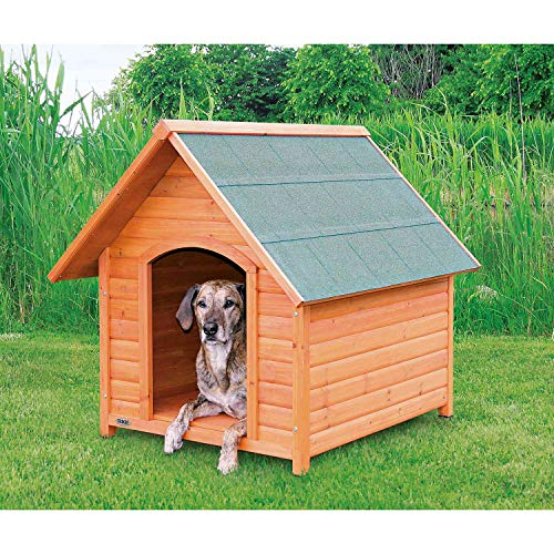 Trixie 39533 natura Hundehütte Cottage mit Satteldach, L: 96 × 105 × 112 cm, natur
