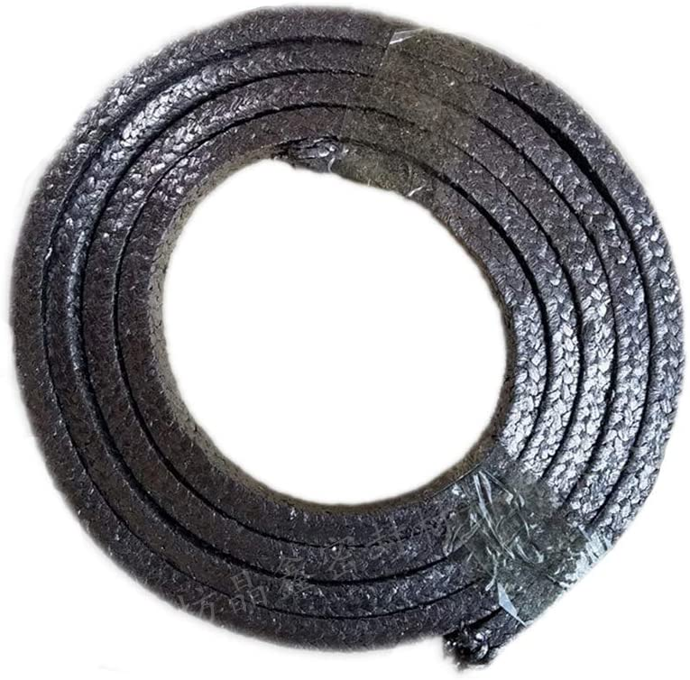 AFexm Flexible Graphite Compression Packing,Compression Packing Seal,Dull Gray,10 x 10 mm Lengte 26M