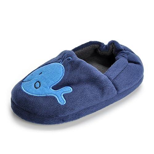 644fd635a1b Estamico Toddler Boy s Premium Soft Plush Slippers Cartoon Warm Winter House