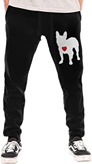 My Heart French Bulldog Men's Drawstring Waist Jogger Sweatpants with Pocket