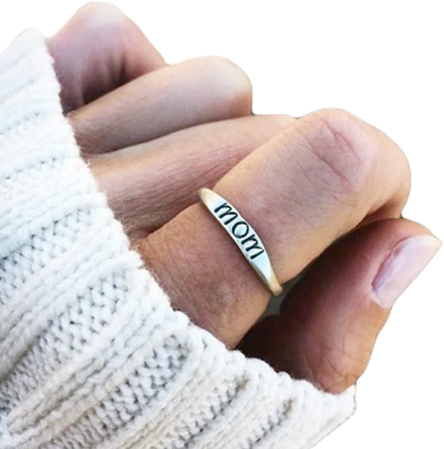 Barogirl Mom Ring for mommy Mother's Day Gift YR901 (10)