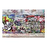 Bilderwelten Fotomural - Graffiti - Mural apaisado papel pintado fotomurales murales pared papel para pared foto 3D mural pared barato decorativo, Dimensión Alto x Ancho: 320cm x 480cm