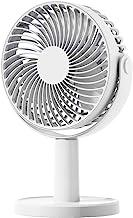 JULABO Durable Ventilateur de Table USB Mini Ventilateur de Bureau Rond Portable 360 degrés Ventilateur électrique Rotat...