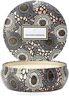 Voluspa Yashioka Gardenia 3 Wick Tin Candle, 12 Ounces