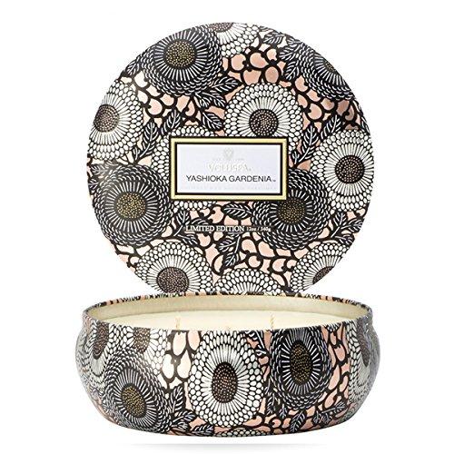 Voluspa Japonica 3-Docht Kerze Yoshioka Gardenia Limited Edition - Hochwertige Duftkerze in limitierter Auflage und in eriner dekorativer Dose, Größe:OS