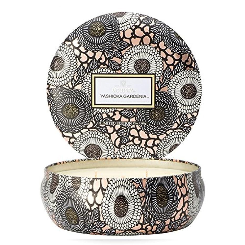 トリップ未来変わるVoluspa ボルスパ ジャポニカ リミテッド 3-Wick ティンキャンドル  ヤシオカガーデニア YASHIOKA GARDENIA JAPONICA Limited 3-ウィック Tin Glass Candle