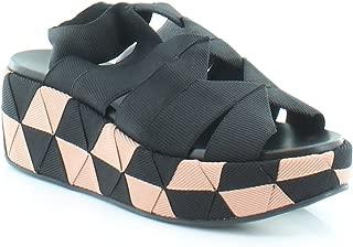 SALVATORE FERRAGAMO Elettra Women's Sandals & Flip Flops Nero Size 7 W