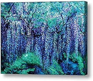 """The Wind Whispers Wisteria, Ocean - 30""""H x 40""""W Canvas Print"""