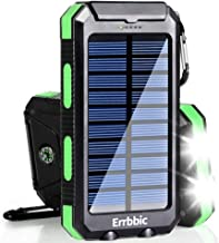 Solar Charger, 20000mAh Solar Power Bank Waterproof Portable Charger External Battery Packs with Dual 2 USB/LED Flashlight...
