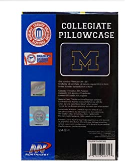 The Northwest Company Officially Licensed NCAA Michigan Wolverines Pillowcase Set, Blue, 20