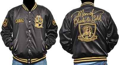 Big Boy Gear New! Mens Alpha Phi Alpha Satin Fraternity Jacket Men of Black & Gold