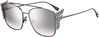 Fendi FENDI FREEDOM FF 0380/G/S RUTHENIUM/GREY SHADED 62/17/140 women Sunglasses