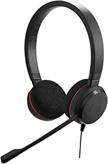 Jabra Evolve 20 Professional Corded USB Stereo Headset with Quality Microphone