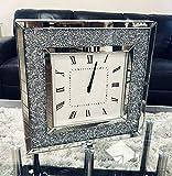 Sassy Home Crush - Reloj de Pared Cuadrado con Espejo (50 x 50 x 4,5 cm)