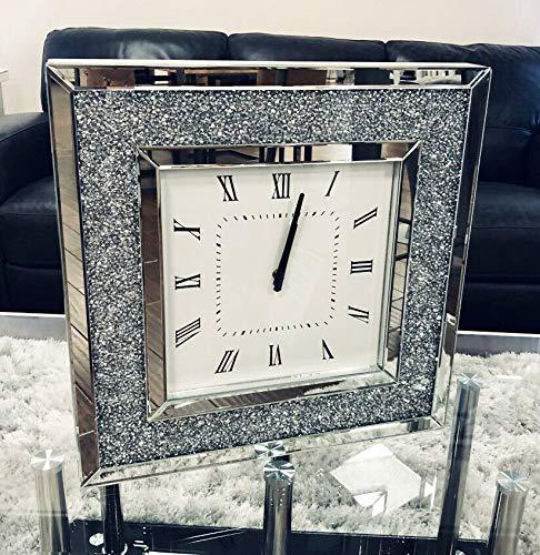 orologio da parete quadrato Sassy Home Crush - Orologio da parete quadrato a specchio