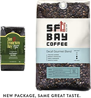 SF Bay Coffee DECAF Gourmet Blend Whole Bean 2LB (32 Ounce) Medium Roast Natural Water Processed  (Packaging May Vary)