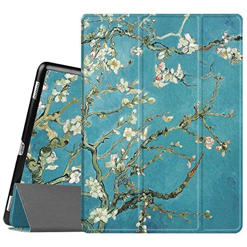 Fintie SlimShell Funda para iPad Pro 12.9 - Súper Delgada y Ligera Carcasa con Función de Soporte y Auto-Reposo/Activación para iPad Pro 12.9 (Versión 2017/2015) Tablet, Flores