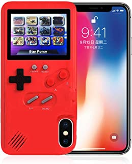 AOLVO Gameboy Case for iPhone, 3D Retro Handheld Game Console Video Game Cover Case with 36 Games, Full Color Display for ...