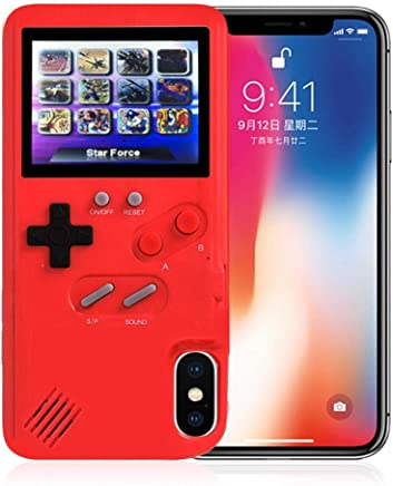 Tetris Video Game Console Case for iPhone 6/6s, Creative Shockproof Case with 36 Games Retro Nostalgia Color Screen Stress Relief Protective Cover Gameboy Childhood Gift for Kids Boys Girls