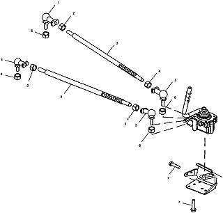 Polaris Shift Linkage Low Range Rod, Genuine OEM Part 5020824, Qty 1