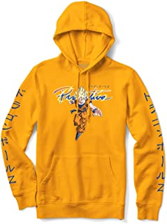 Primitive Skate x Dragon Ball Z Men's Nuevo Goku Saiyan Long Sleeve Hoodie Gold Yellow