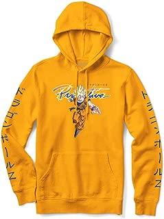 Primitive Skate x Dragon Ball Z Men's Nuevo Goku Saiyan Long Sleeve Hoodie Gold Yellow