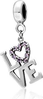 I Love Your Charm 925 Sterling Silver Charm Heart Charm Love Charm Valentine's day Birthday Christmas Charm for Pandora Charms Bracelets or Pendants (LOVE)