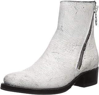 حذاء برقبة للنساء بسحاب ديمي من FRYE, (White Painted Full Grain), 7