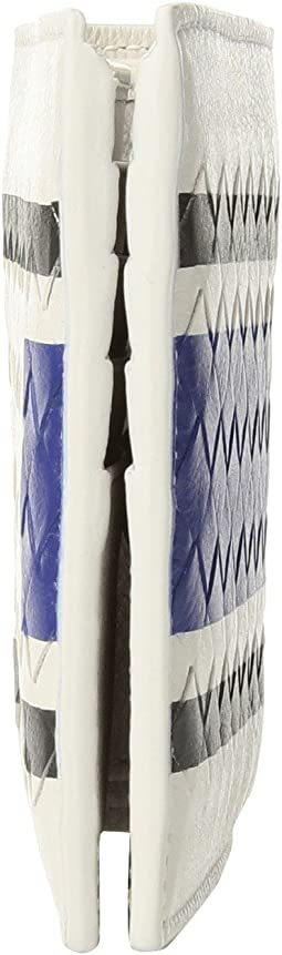 Bottega Veneta Canvas Lines Wallet