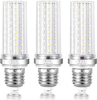 YIUN E27 Bombillas vela del LED, 20W LED Candelabra bombillas de 150 vatios equivalente, 1800lm, blanco frío 6000K, lámpara LED no regulables, paquete de 3