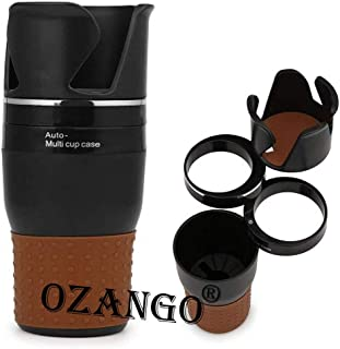 OZANGO B4 Car Universal Smart Adjustable Auto Multi Cup Holder Tumbler 5 in 1 Holder Black Comptible for Audi Q7