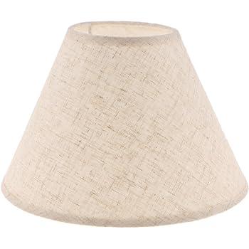 Better /& Best 40 Forma Paralume in lino diametro superiore: 9,5 x 9,5 cm tipo Cina 40 cm colore tortora altezza: 25 cm rotondo dimensioni inferiore: 39 x 39