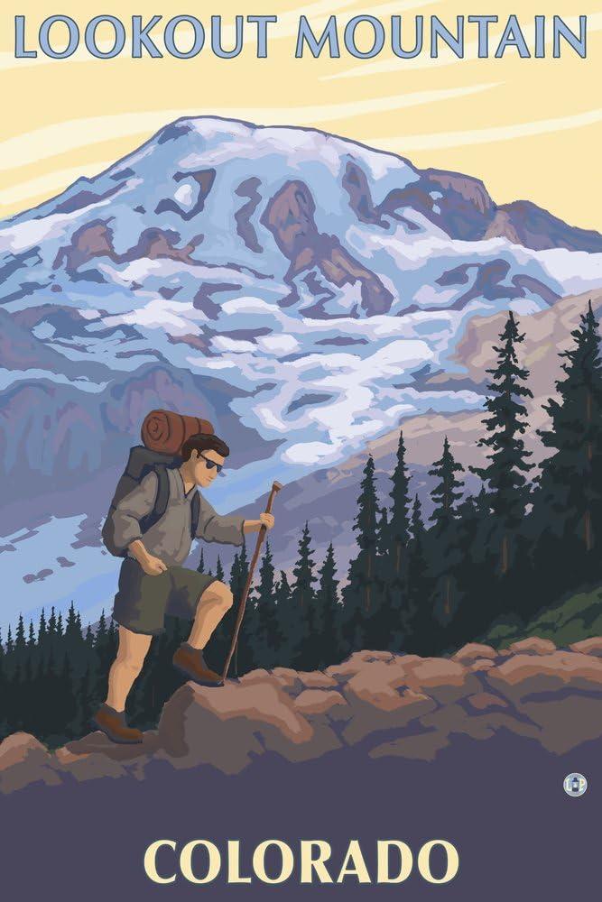 Lookout Mountain Colorado - Giclee 36x54 Hiker Regular discount Miami Mall Galler