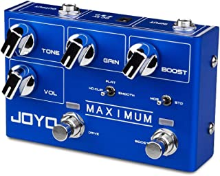 JOYO Maximum R-05 R Series Overdrive Dual Channel Pedal Creates Clean Overdrive Tone and Wild Overdrive Effect for Electri...