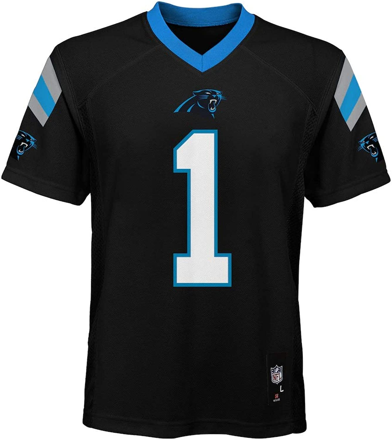 Outerstuff Cam Newton Carolina Panthers  1 NFL Youth MidTier Jersey Black